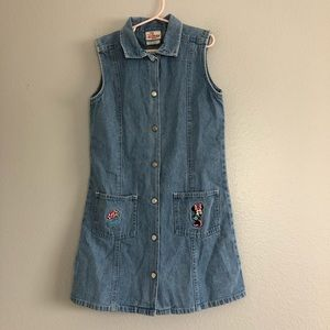The Disney Store Vintage Minnie  Jean Dress 7/8